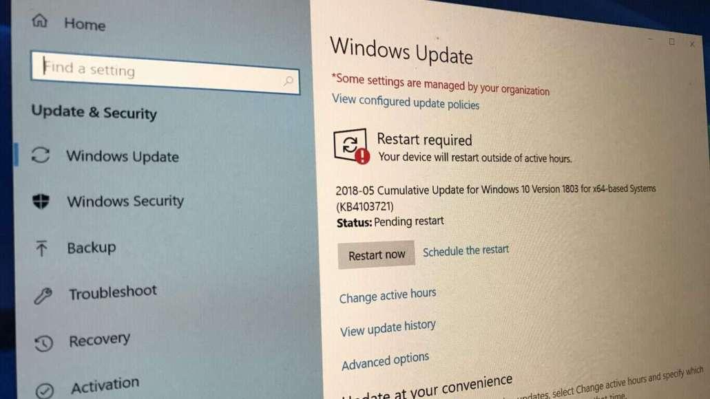 windows 10 1803 update problem