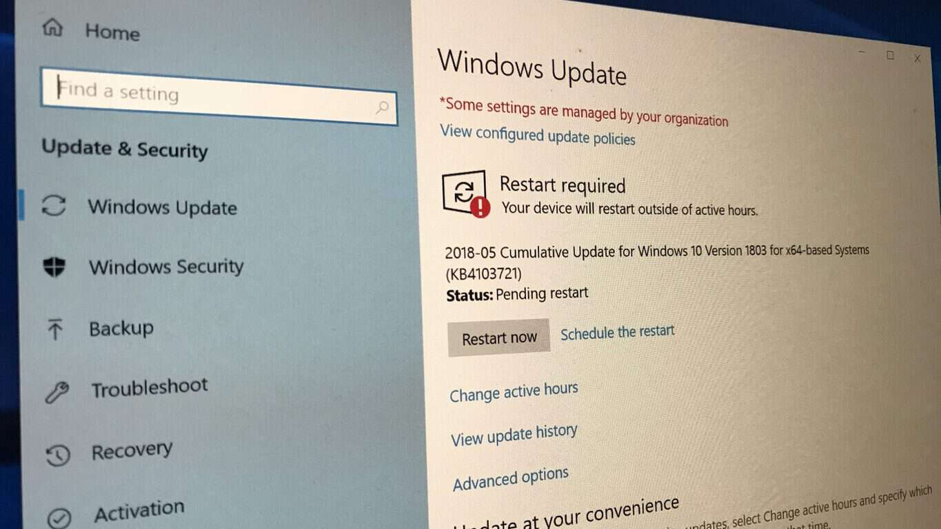 First Patch Tuesday update for Windows 10 version 1803 is