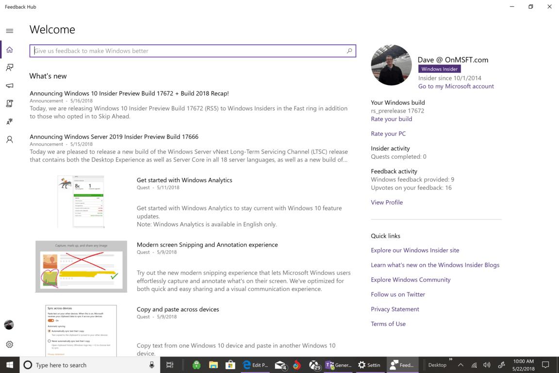 Microsoft, Feedback