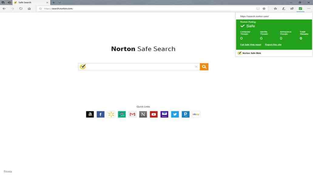 Norton Safe Web Microsoft Edge