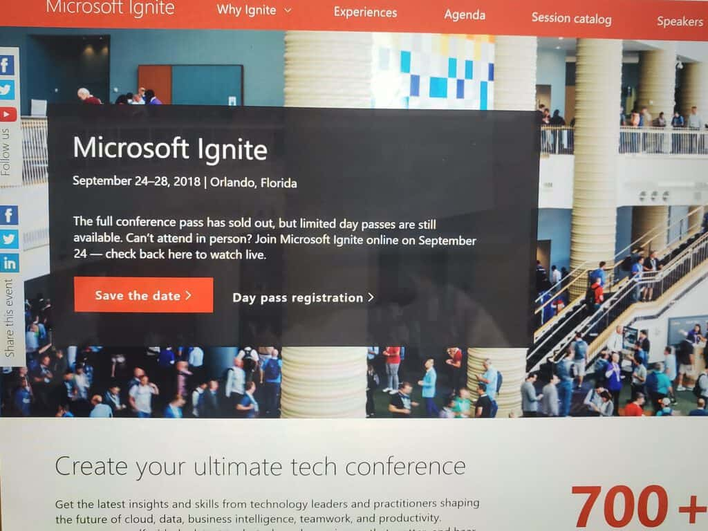 Microsoft, Ignite, 2018