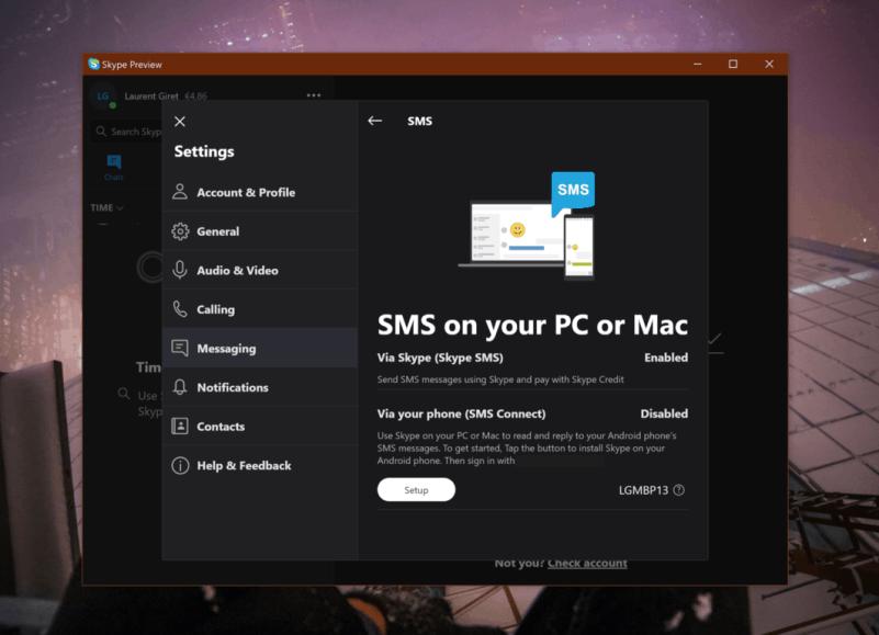 Hasil gambar untuk skype SMS Connect