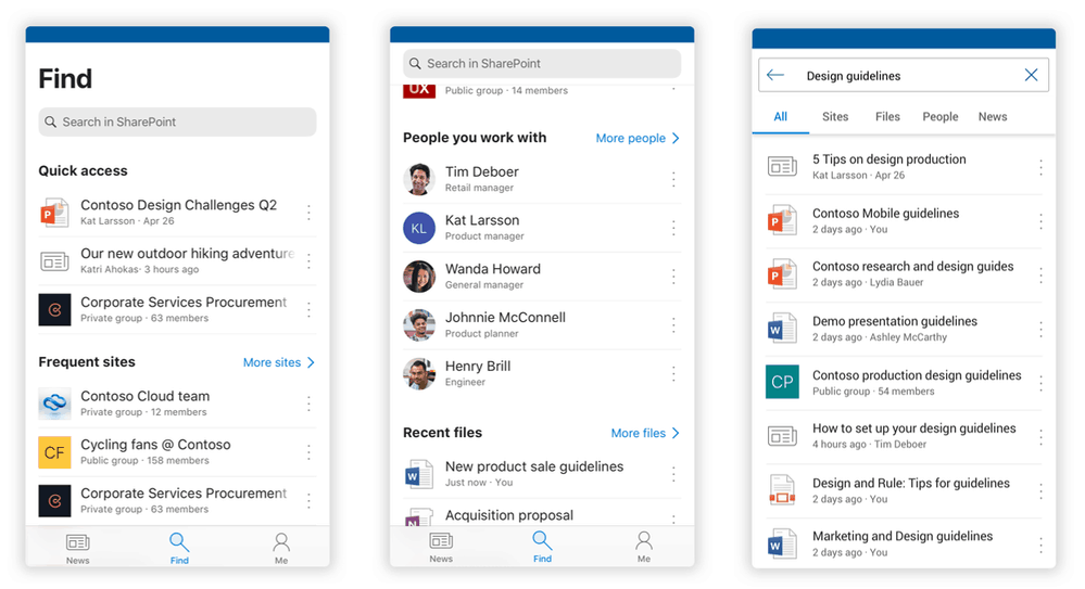 Microsoft SharePoint redesign