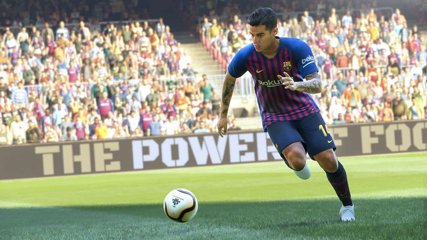 Pro Evolution Soccer 2019 video game on Xbox One