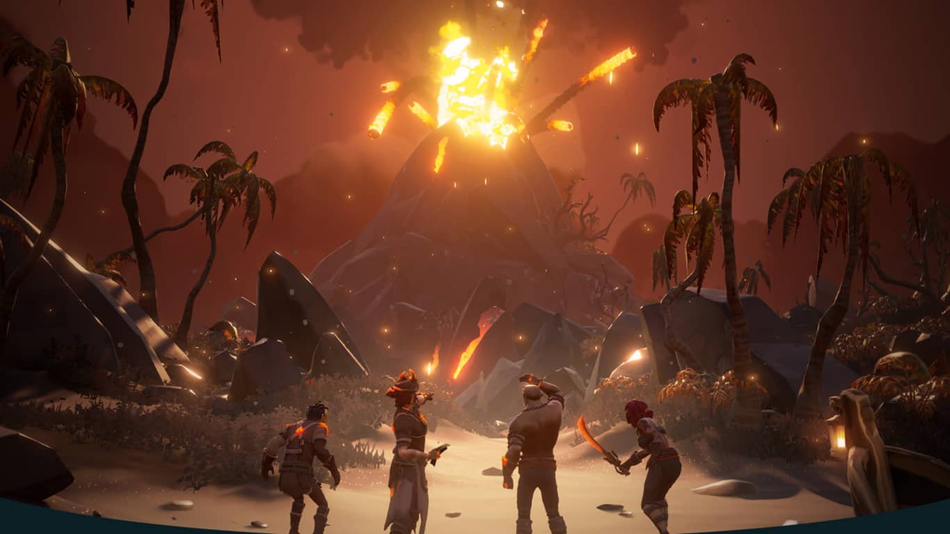Sea of Thieves Forsaken Shores video game on Xbox One and Windows 10
