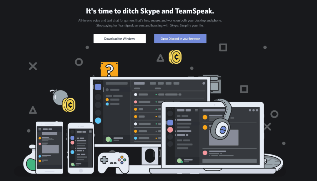 not so long ago skype used to be a popular option among pc gamers looking for a simple app for voice chat and light messaging - fortnite central discord