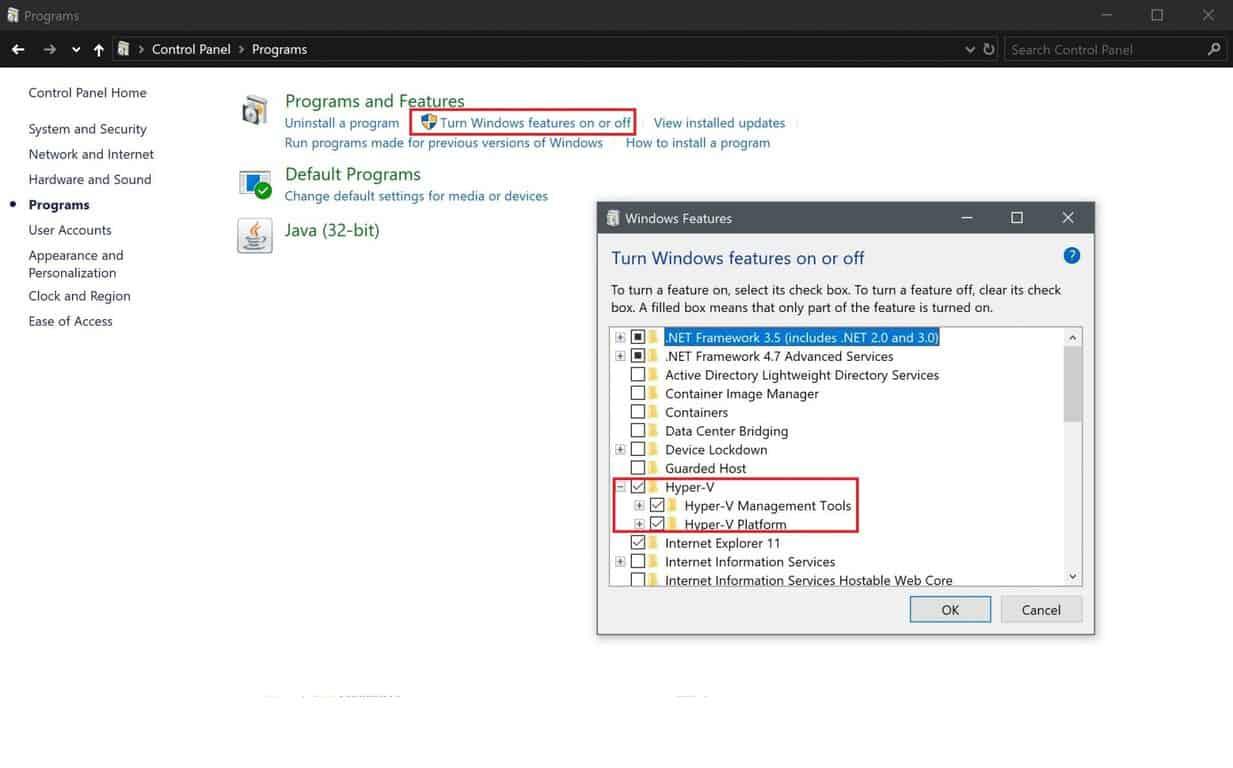 Microsoft, Hyper-V, Windows 10, virtualization