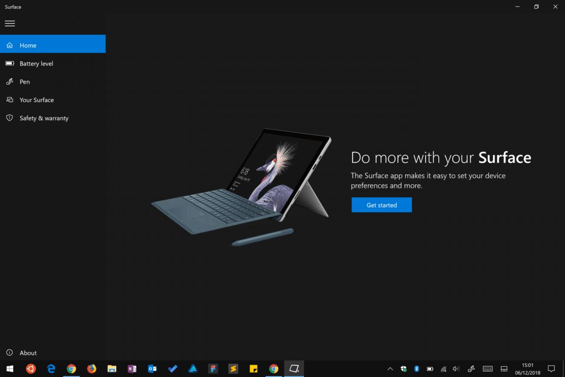Surface app screenshot