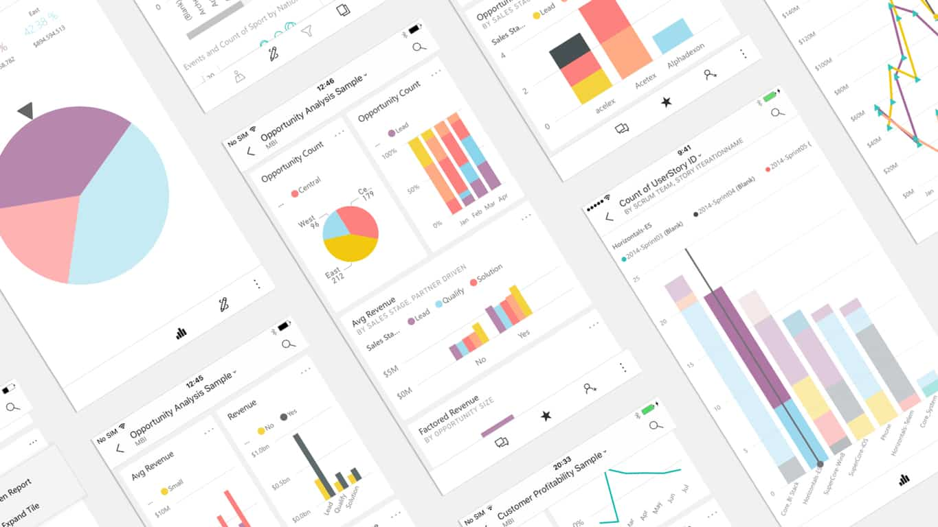 Microsoft Power BI on mobile