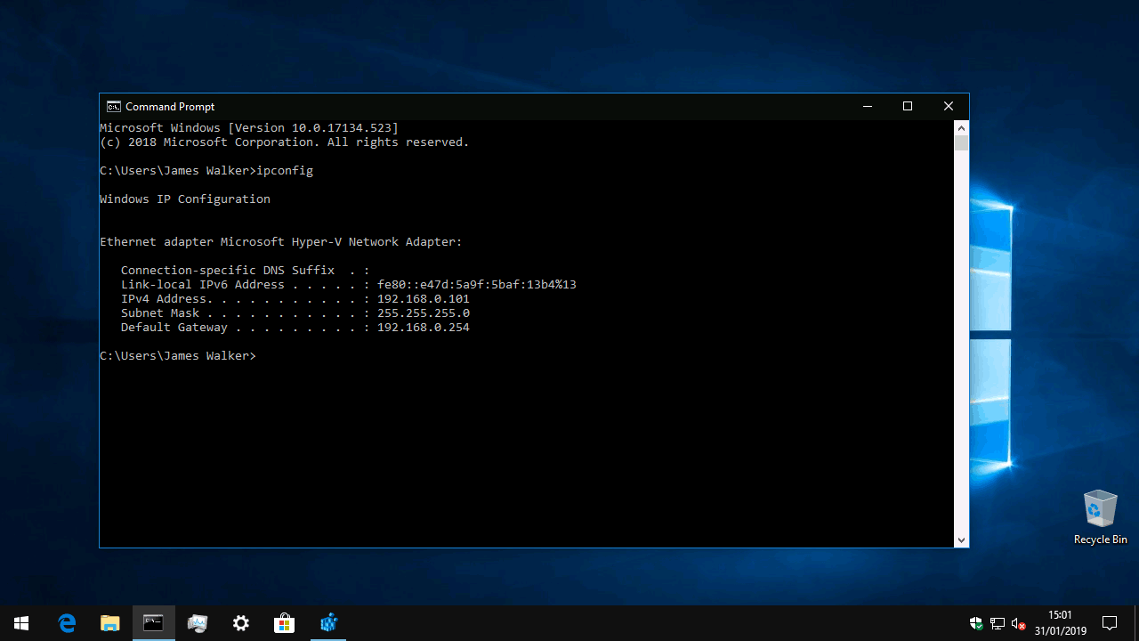 Trace ip address location command prompt windows 10