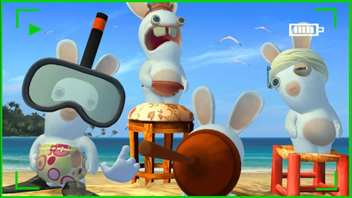 Rayman Raving Rabbids video game on Xbox One