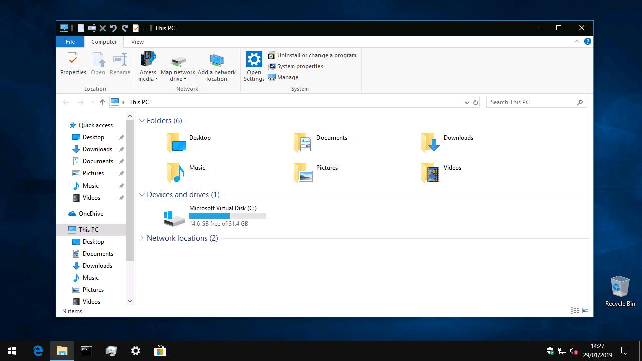 File Explorer, devoid of 3D Objects
