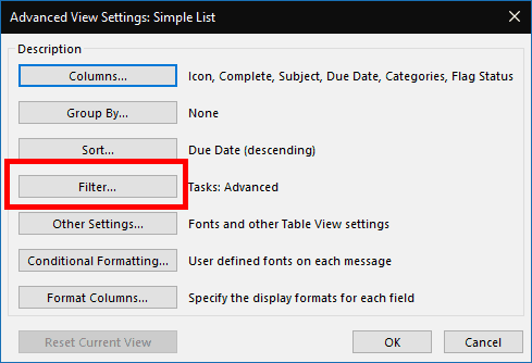 Hiding Outlook tasks with a future Start Date