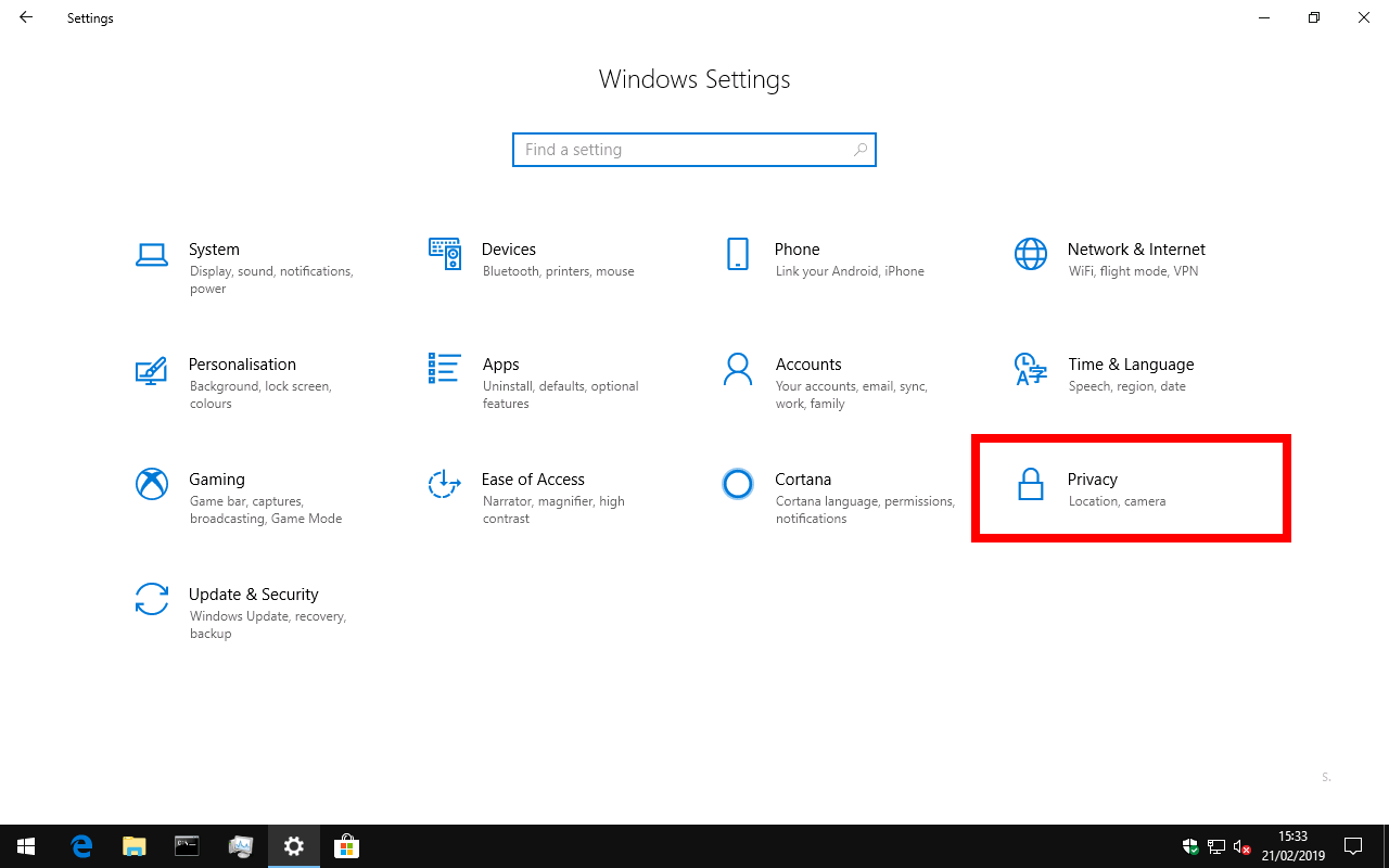 windows 10 stop cortana notifications
