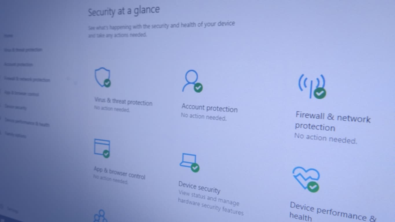 Windows Security homescreen photo