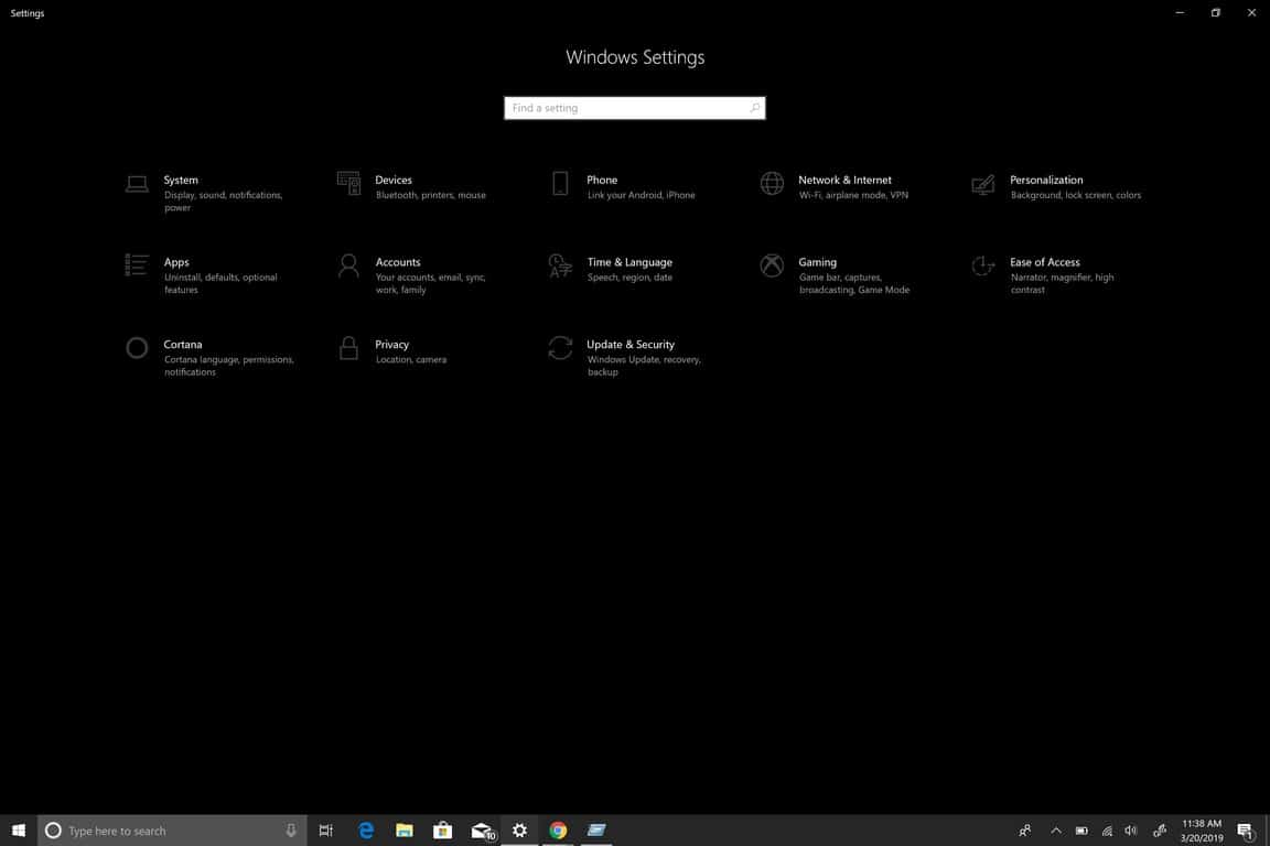 Microsoft Windows 10, Settings, Windows,