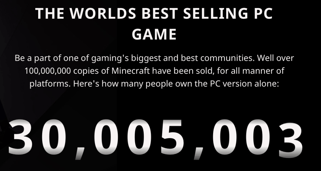 PC version of Minecraft crosses 30 million sales, Xbox One