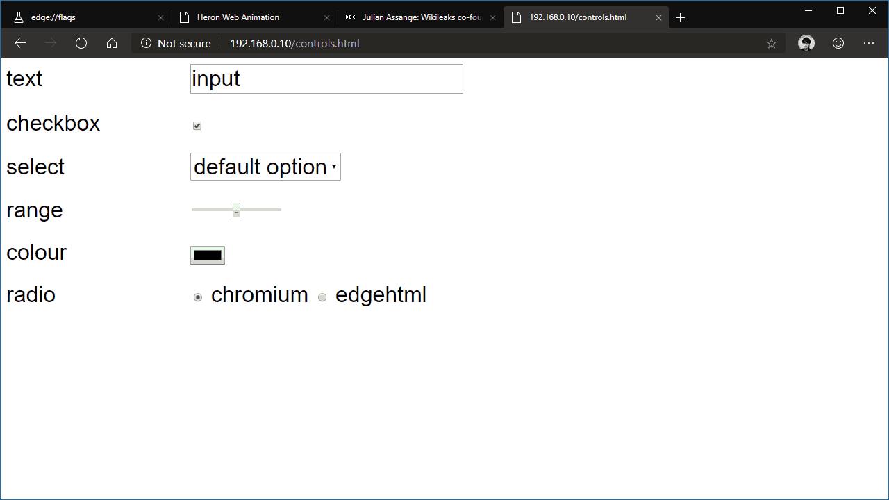 Chromium's default controls