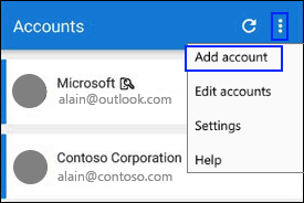 Microsoft Authenticator add an account