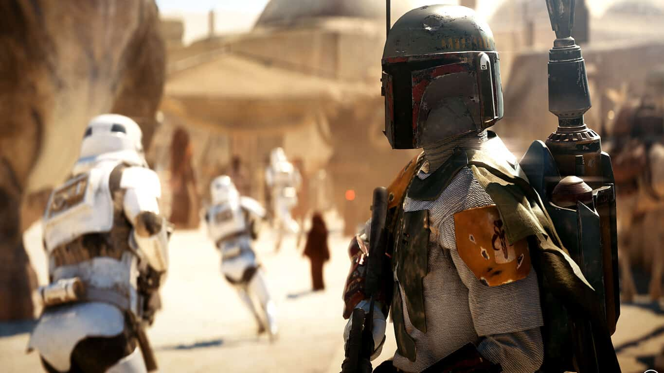 Boba Fett in Star Wars Battlefront II on Xbox One