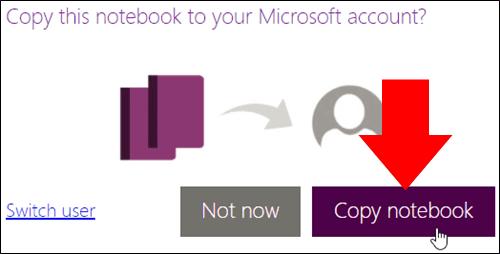 Microsoft screenshot of saving OneNote class notebooks
