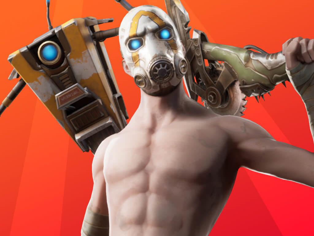 Fortnite video game with Borderlands content on Xbox One