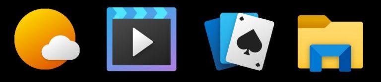 New Microsoft app icons