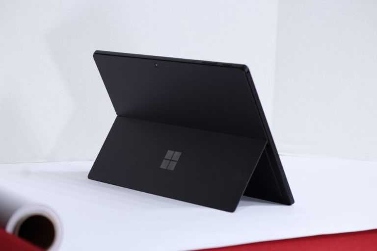 Surface Pro 7 in standing position