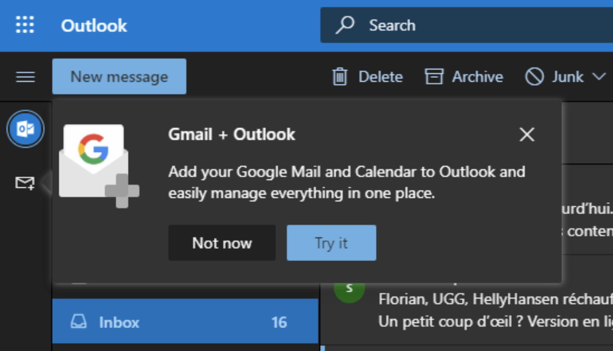 Microsoft is bringing Gmail accounts to Outlook on the web