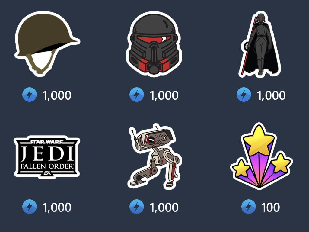 Star Wars Jedi: Fallen Order stickers on Mixer