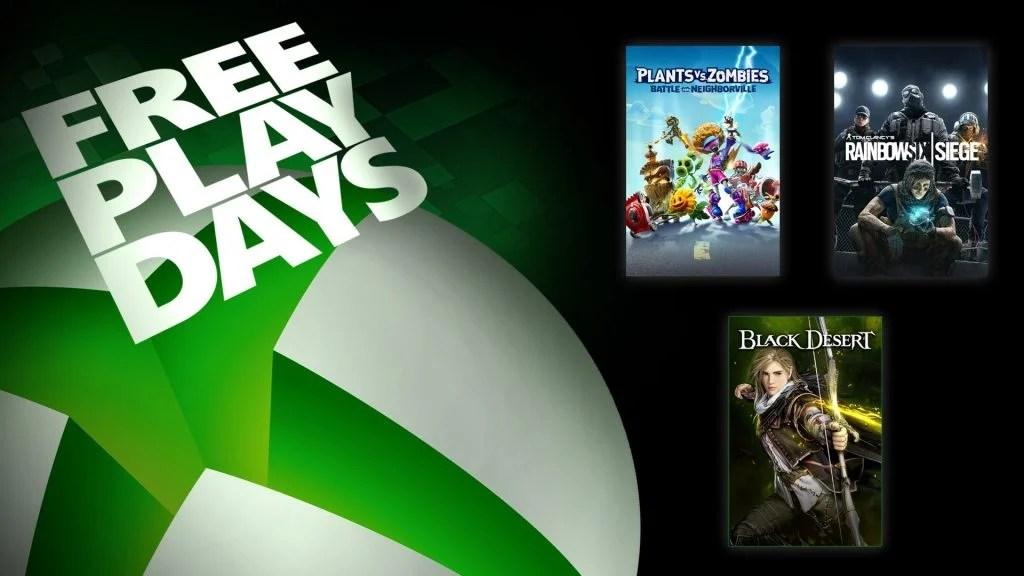 Microsoft, Xbox, Free Play Days