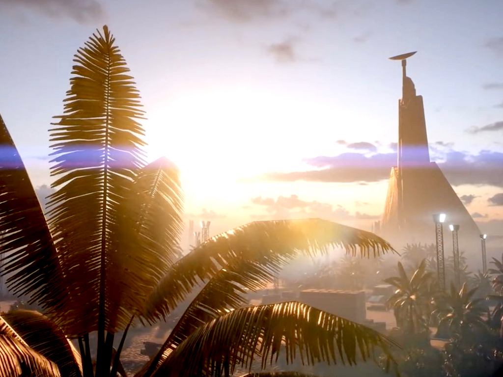 Scarif in Star Wars Battlefront II video game on Xbox One