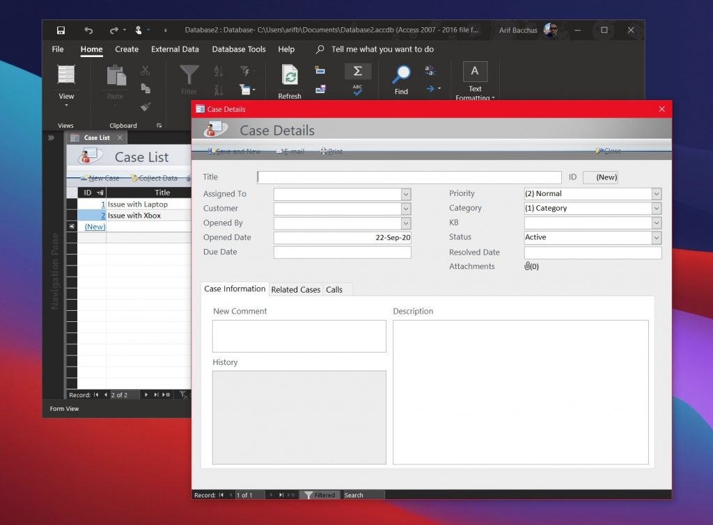 Full source code included in purchased product. How To Use Microsoft Access To Create A Customer Service Database For Your Small Business Onmsft Com