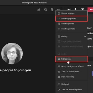 Microsoft Teams new Meetings experience adds full screen support and meeting options