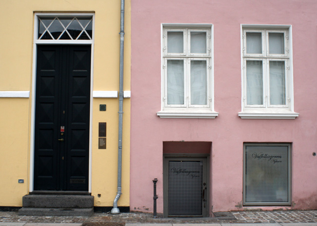 pastel buildings in Copenhagen
