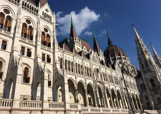 The Parliament building in Budapest is pretty grand