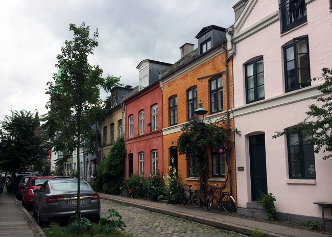 A quiet neighborhood street in Copenhagen