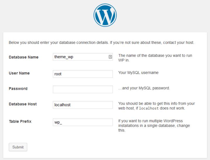 cara install wordpess step 2