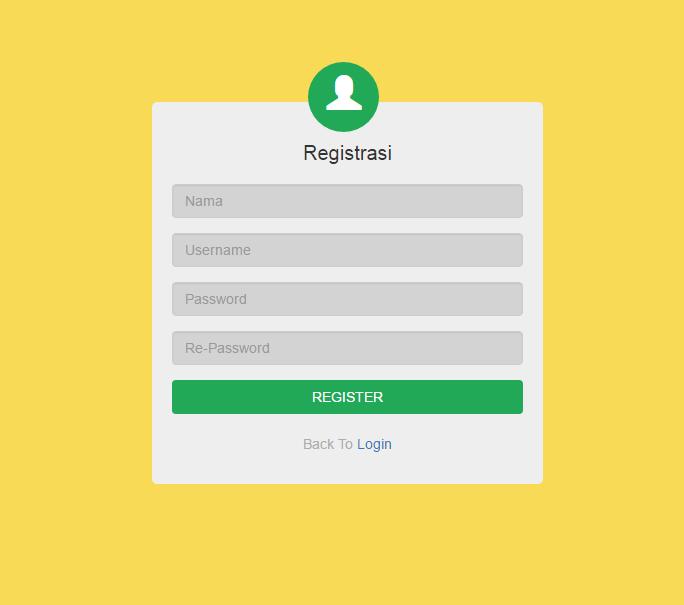 Membuat Form Registrasi dengan Bootstrap dan PHP