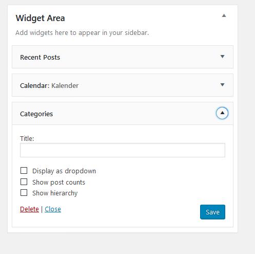 widget form