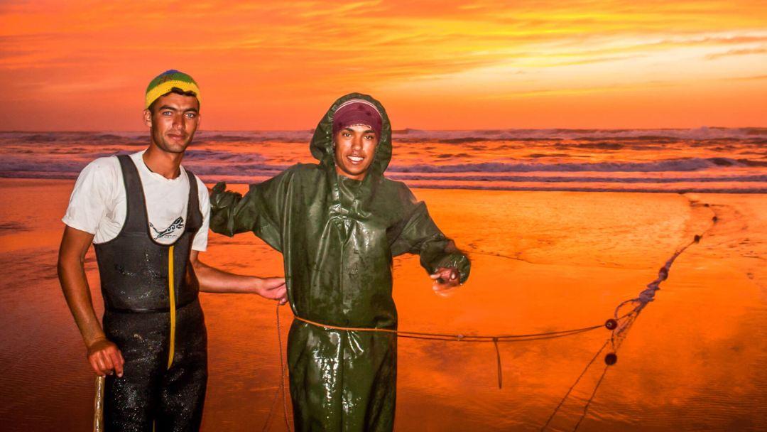 FTH - Fisherman, Sunset, Morroccan Coast