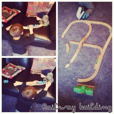 Making our own track on sofa #PhotoGrid