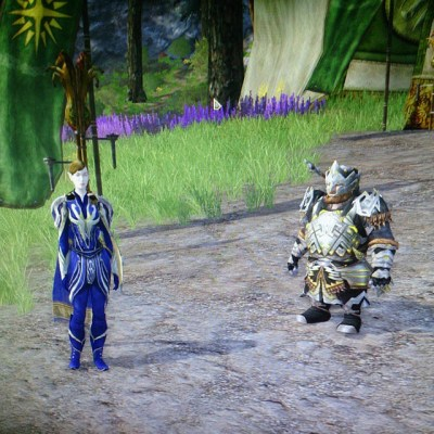 #takingcare100. Day 3 - regular Friday evening playing an MMO with DH & friend (whose character is not in picture)