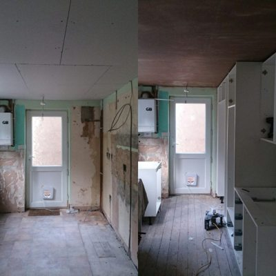 Yesterday to today in kitchen.... #newkitchen
