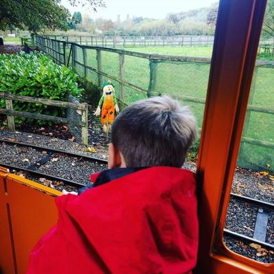 One thing excited boy waiting for Thomas to start...