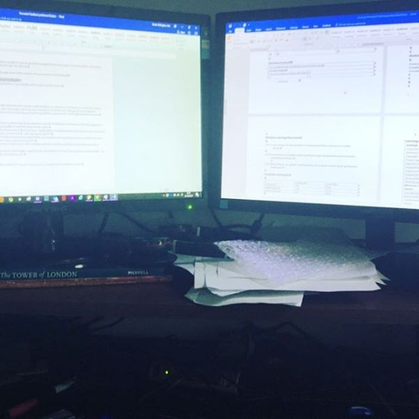 I love working through documentation for validation events - said no academic in my experience:) At least I am at home and have my comfortable computer setup.