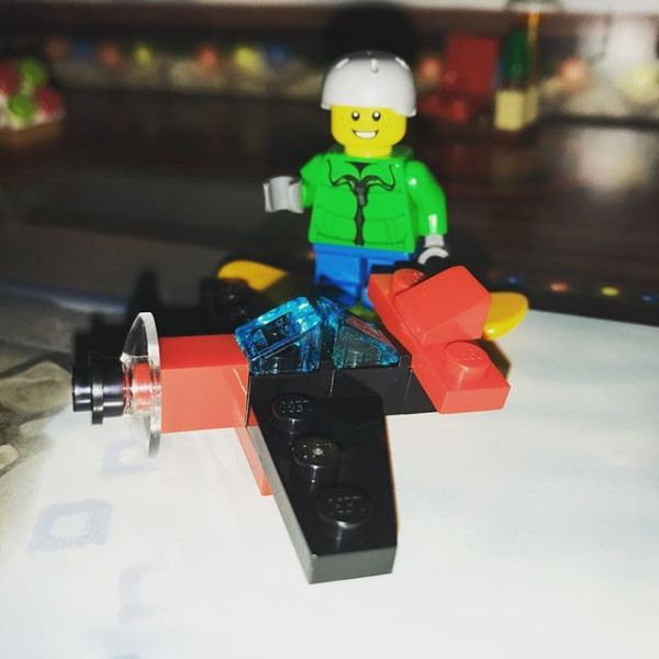Snowboard boy wandering about latest addition to #legocityadvent Seems a bit small to him ....