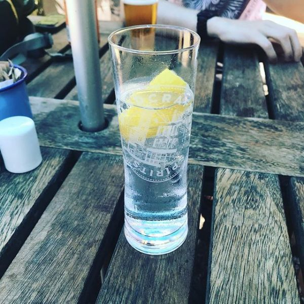 Enjoying Adnams Gin & Tonic in sunshine in Southwold #adnamssouthwold