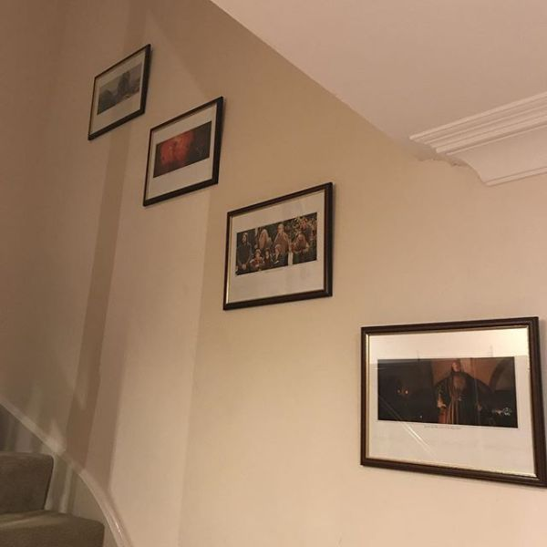 Starting to feel like home- familiar pictures up today