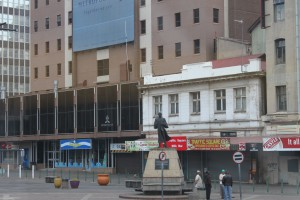 Statue of Gandhi in the rejuvenated Gandhi Square